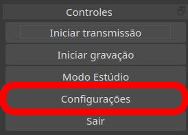 Configurações OBS
