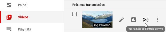 Lista de transmissões ao vivo do YouTube
